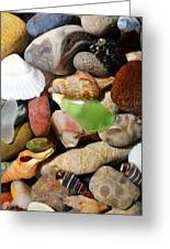 Petoskey Stones L Greeting Card by Michelle Calkins