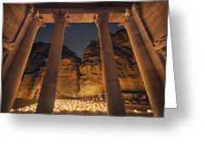 Petra Inside The Temple Greeting Card