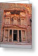 Petra Treasury Greeting Card by Tony Beck