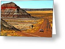 Petrified Forrest Highway-1964 Shelby 289 Cobra Greeting Card