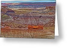 Petrified Log On Overlook Near Blue Mesa In Petrified Forest National Park-arizona   Greeting Card
