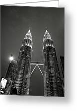 Petronas Towers At Night Greeting Card