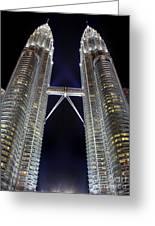 Petronas Towers Greeting Card