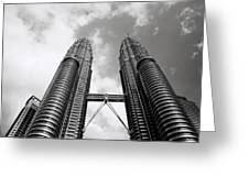 Petronas Vertigo Greeting Card