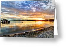 Pewaukee Vibrant Evening  Greeting Card