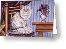 Pewter The Cat Greeting Card