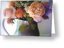Pewter Vase With Bouquet Greeting Card