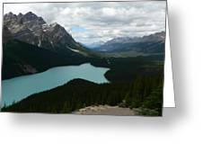 Peyote Lake In Banff Alberta Greeting Card
