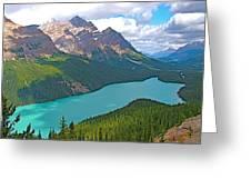 Peyto Lake Along Icefield Parkway In Alberta-canada Greeting Card