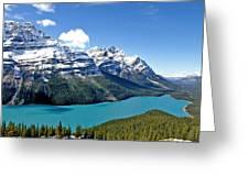 Peyto Lake October Greeting Card