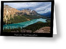 Peyto Lake Poster Greeting Card
