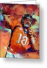 Peyton Manning Abstract 4 Greeting Card