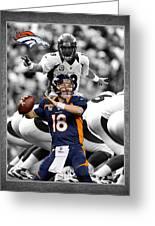 Peyton Manning Broncos Greeting Card