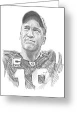 Peyton Manning Colts Farewell Pencil Portrait Greeting Card