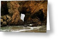 Pfeiffer Beach Rocks In Big Sur Greeting Card