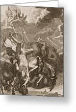 Phaeton Struck Down By Jupiter's Thunderbolt Greeting Card