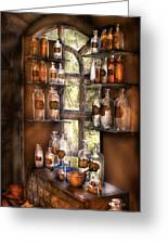Pharmacist - Various Potions Greeting Card by Mike Savad