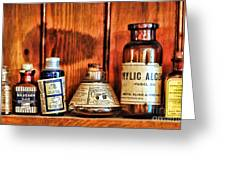 Pharmacy - Cocaine In A Bottle Greeting Card
