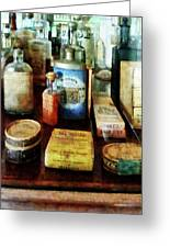 Pharmacy - Cough Remedies And Tooth Powder Greeting Card