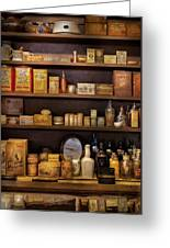 Pharmacy - Quick I Need A Miracle Cure Greeting Card by Mike Savad