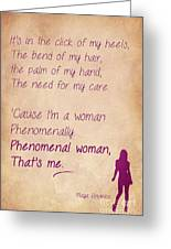 Phenomenal Woman Quotes Stunning Phenomenal Woman Quotes 4 Greeting Card For Salenishanth