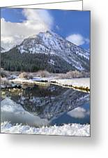 Phi Kappa Mountain Reflected In River Greeting Card