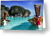 Phi Phi Islands Greeting Card by Shannon Rogers