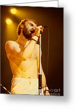 Phil Collins Of Genesis At Oakland Coliseum Greeting Card