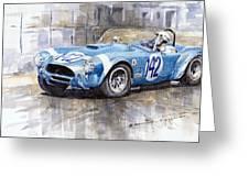 Phil Hill Ac Cobra-ford Targa Florio 1964 Greeting Card