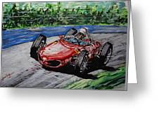 Phil Hill At Nurburgring. Greeting Card