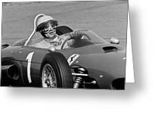Phil Hill Ferrari Close Up Greeting Card