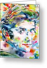 Phil Ochs - Watercolor Portrait Greeting Card