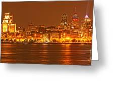 Philadelphia Across The Delaware Greeting Card