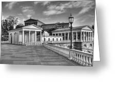Philadelphia Art Museum And Waterworks 11 Bw Greeting Card