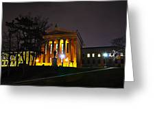 Philadelphia Art Museum  At Night From The Rear Greeting Card