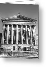 Philadelphia Art Museum Back 1 Bw Greeting Card