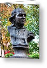 Philadelphia Benjamin Franklin Penny Bust Greeting Card