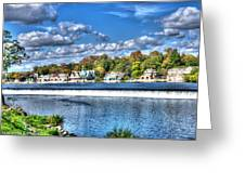 Philadelphia Boat House Row 3 Greeting Card