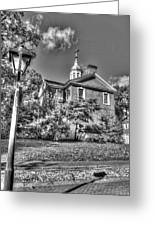 Philadelphia Carpenter's Hall East Side 4 Bw Greeting Card