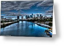 Philadelphia  Cityscape 2 Greeting Card