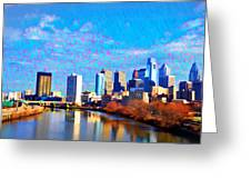 Philadelphia Cityscape Rendering Greeting Card