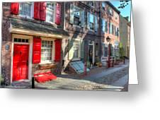 Philadelphia Elphreth's Alley Greeting Card