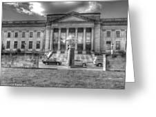 Philadelphia Franklin Museum 2 Bw Greeting Card