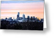 Philadelphia From Belmont Plateau Greeting Card