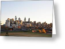 Philadelphia From University City Greeting Card
