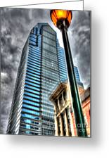 Philadelphia Liberty Place Tower And Street Lamp 1 Greeting Card