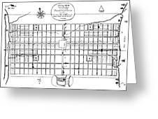 Philadelphia: Map, 1683 Greeting Card