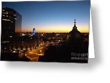 Philadelphia Night Greeting Card by Tatianne Lugo