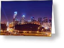 Philadelphia Nightscape Greeting Card