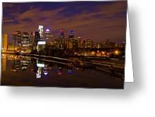 Philadelphia On The Schuylkill At Night Greeting Card
